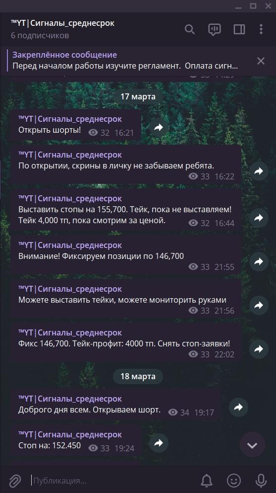 Сделка №7. Фьючерс РТС.