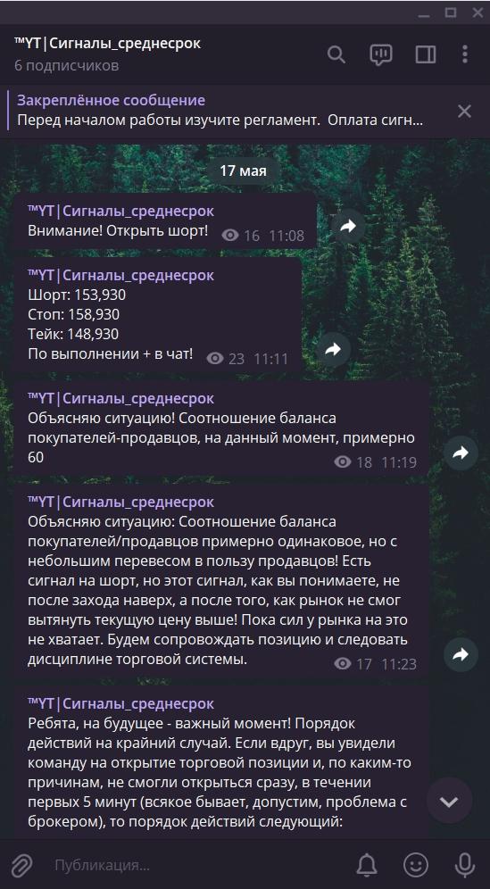 Сделка №12. Фьючерс РТС.